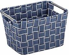 Wenko Fedra Bathroom Basket Medium, Blue, Dark