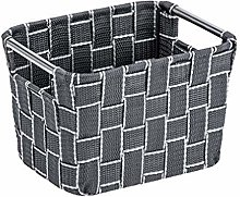 Wenko Fedra S Bathroom Basket Anthracite,