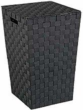 Wenko Laundry bin Adria square in black, 33 x 33 x