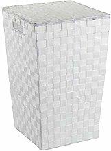 Wenko Laundry bin Adria square in white, 33 x 33 x