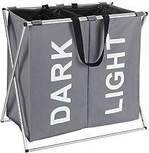 Wenko Laundry bin Duo in grey, Polyester, 38 x 59