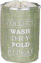 Wenko Laundry bin Ringo in green, Polyester, 40 x