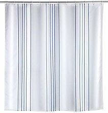Wenko Linen Blue 23837100 Shower Curtain Washable