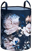 Wenko Peony Laundry Basket with Floral Pattern,