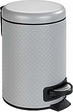 WENKO Punto grey-Cosmetic, waste bin with pedal