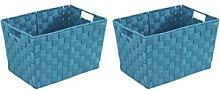 Wenko Set Basket 2Pcs. Blue Oil