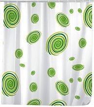 Wenko Shower Curtain 120x200 Circles green, PEVA
