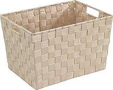 WENKO Storage Adria Beige Size M-bathroom basket,