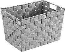Wenko Storage basket Adria Size M in grey, PP, 35
