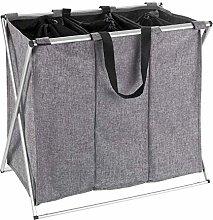 WENKO Trio Grey Mottled Laundry Basket 130 L