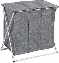 WENKO Trio Top Grey Mottled Laundry Basket 118 L