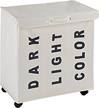 Wenko Trivo Laundry Bin, Polyester, Beige, 35 x 56