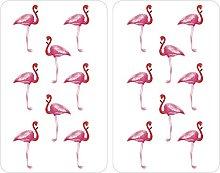 WENKO Universal Flamingo Hob Cover Set of 3, Hot