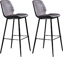 WENLI Adjustable Barstools Retro Metal Barstools