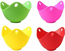 WenX 4 Pieces Egg Poacher, Silicone Egg Poacher