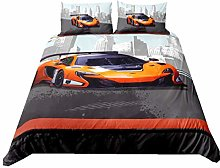 WENYA Duvet Cover 3D Car, Sports-Style Bedding set