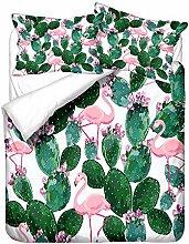 WENYA Duvet Cover for Girls Tropical Plant Flower