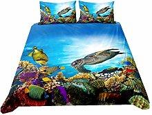 WENYA Duvet Cover Tortoise, 3D Ocean Animal