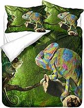 WENYA Green Bedding set for Kids and boys 3D