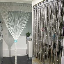 WENYAO Polyester string curtain panels with pearl