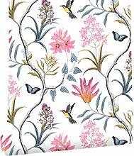 WENYOG Wall Paper Self Adhesive Floral Bird