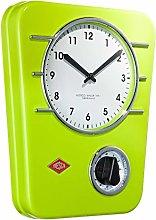 Wesco Classic Line 322401-20 Kitchen Clock Lime
