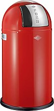 Wesco Pushboy Waste Bin (50L) - Red