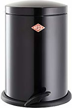 Wesco Rubbish bin, Stainless Steel, Black, 13L
