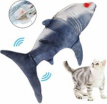 WESDOO cat wagging fish realistic plush cat