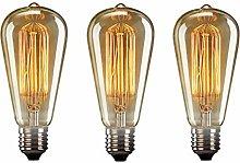 WESEEDOO Light Bulbs Edison Screw Edison Screw
