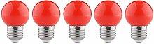 WESEEDOO Light Bulbs Screw Coloured Light Bulbs