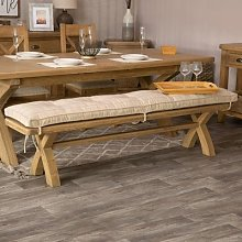 Wessex Smoked Oak Natural Check Cushion for 2.0m