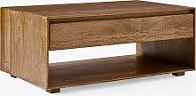 west elm Anton Storage Coffee Table, Brown