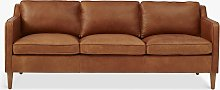 west elm Hamilton Large 3 Seater Leather Sofa,
