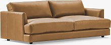west elm Haven Large 3 Seater Leather Sofa, Ludlow