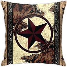 Western Texas Star Square 18x18 Inches Decorative