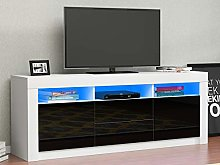WESTHL LED TV Stand Cabinet,Modern 160cm TV Unit