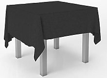 Westlane Linens Black 90x90 Inches Large Square