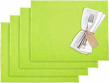 Westmark 1210237150 Home 4 Place Mats, Vinyl, Lime