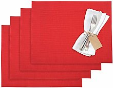 Westmark 1210279150 Home 4 Place Mats, Vinyl, Red