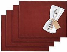 Westmark 1210293150 Home 4 Place Mats, Vinyl, Red