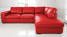 WESTPOINT - CORNER SOFA – FAUX LEATHER – RIGHT