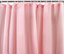 Westward Ho! Plain Textile Shower Curtain (Pink)
