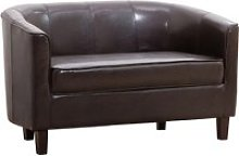 Westwood Faux Leather 2 Seater Tub Sofa, Brown