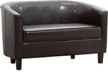 Westwood Faux Leather 3 Seater Tub Sofa, Black