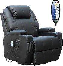 WestWood Massage Leather Sofa Electric 01 Black