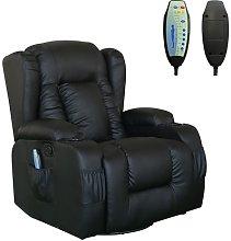 WestWood Massage Leather Sofa MLS-02 Black