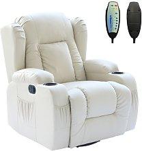 WestWood Massage Leather Sofa MLS-02 Cream