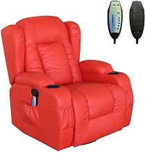 WestWood Massage Leather Sofa MLS-02 Red