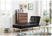 WestWood PU Single Sofa Bed PSB03 Black